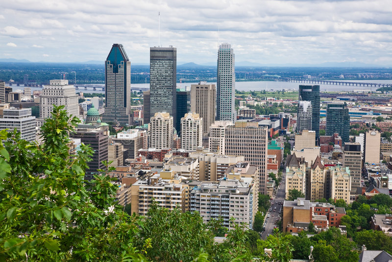 stad montreal royaltyfria foton