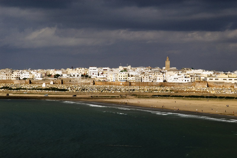stad morocco rabat royaltyfri foto