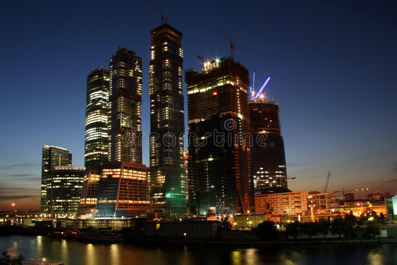 stad moscow arkivfoto