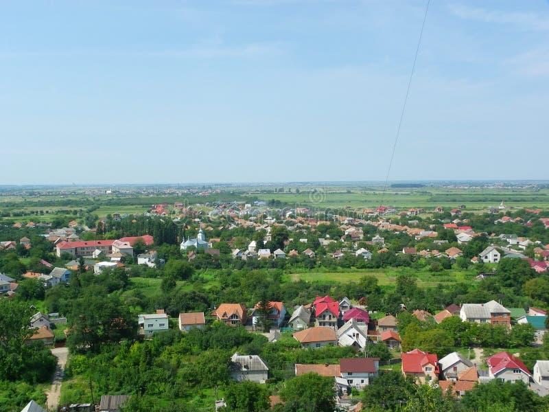 Stad Mukachevo, de Oekraïne stock foto's