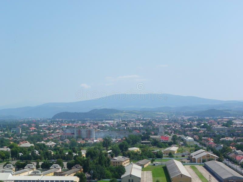 Stad Mukachevo, de Oekraïne stock afbeelding