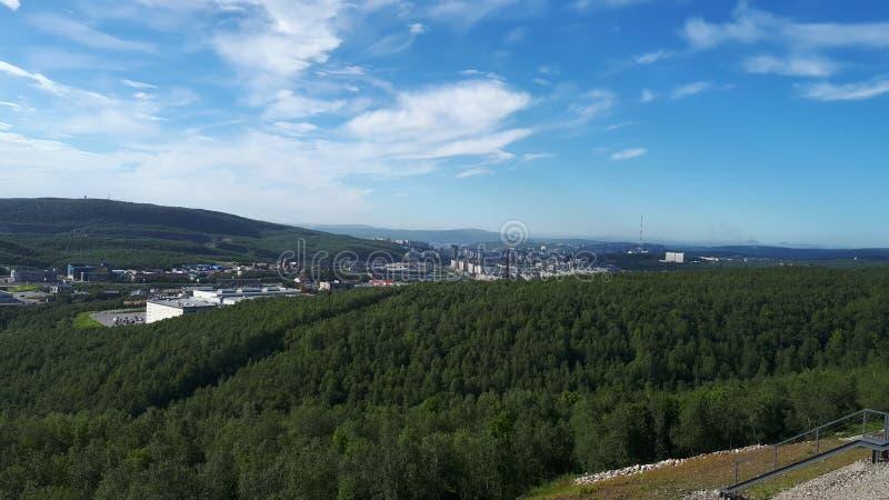 Stad Murmansk arkivfoto