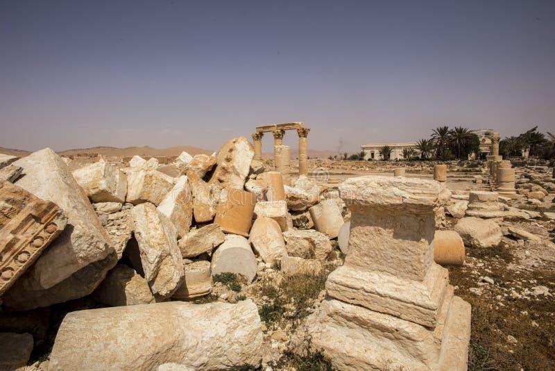 Stad nära Palmyra i Syrien fotografering för bildbyråer