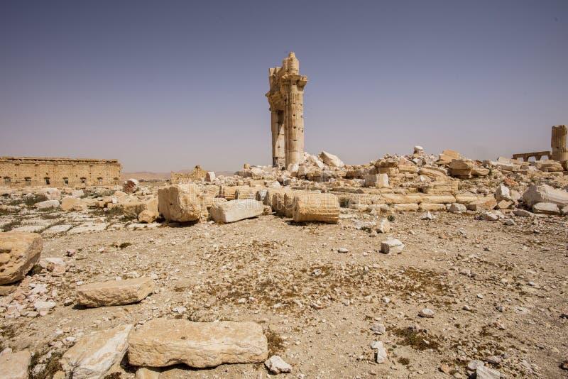 Stad nära Palmyra i Syrien royaltyfri fotografi