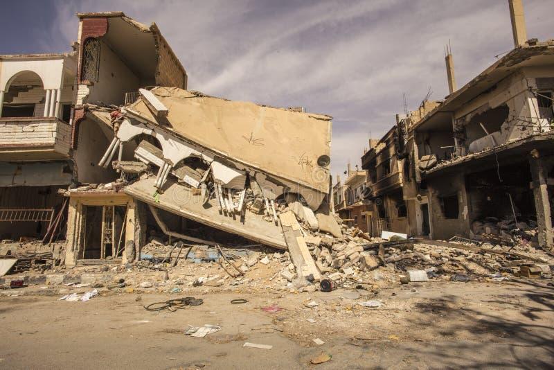Stad nära Palmyra i Syrien arkivbilder