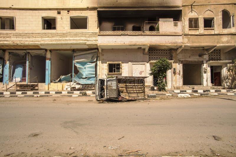 Stad nära Palmyra i Syrien arkivfoton