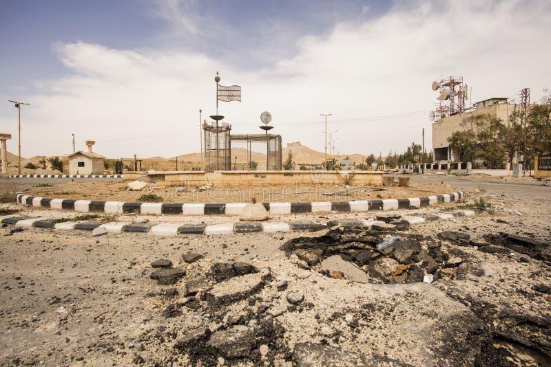Stad nära Palmyra i Syrien royaltyfri bild
