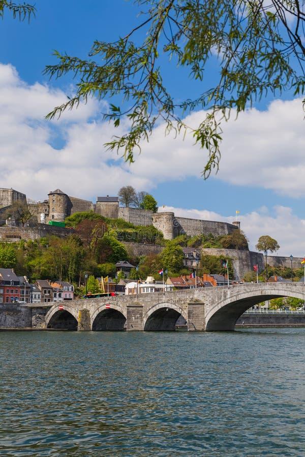 Stad Namur i Belgien royaltyfria foton