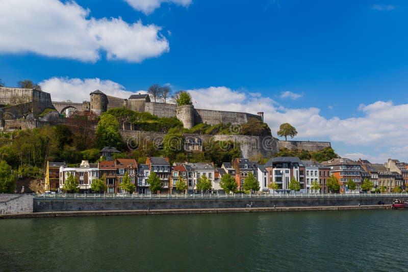 Stad Namur i Belgien arkivfoto