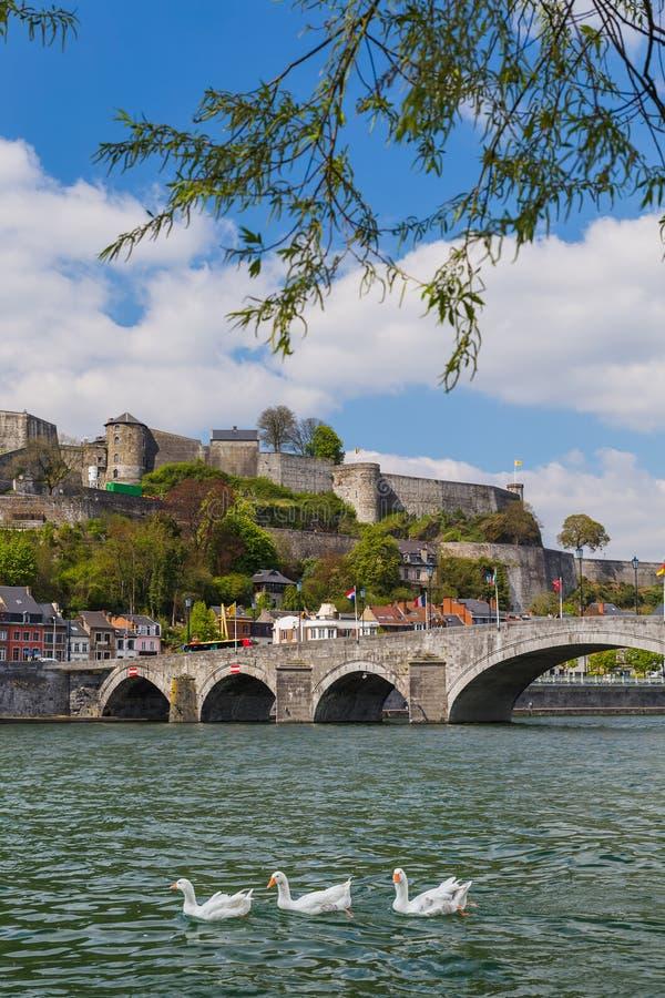 Stad Namur i Belgien royaltyfri bild