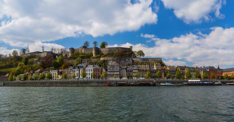 Stad Namur i Belgien royaltyfri foto
