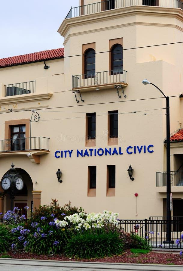 Stad nationella medborgerliga byggande San Jose royaltyfri foto