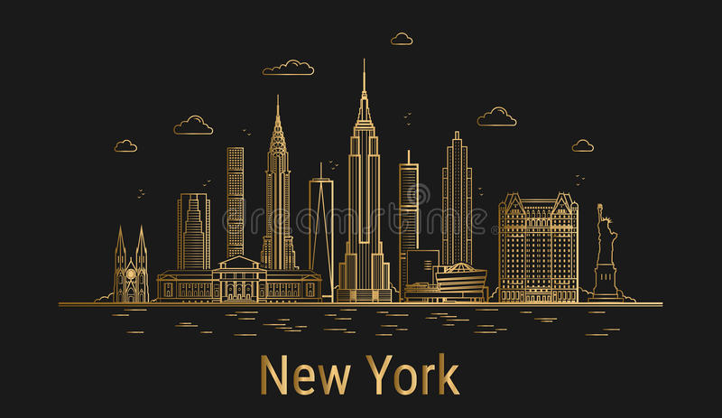stad New York stock illustrationer