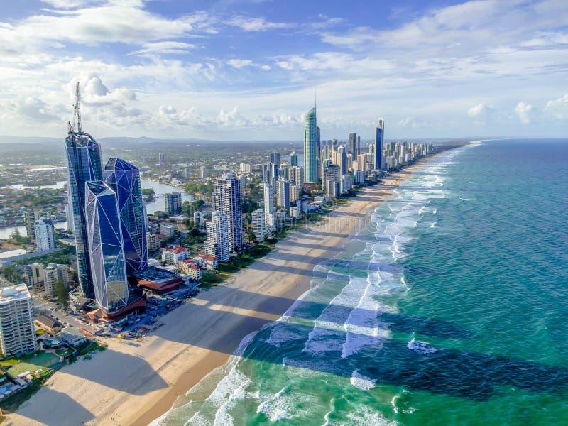 Stad op het Strand stock foto's