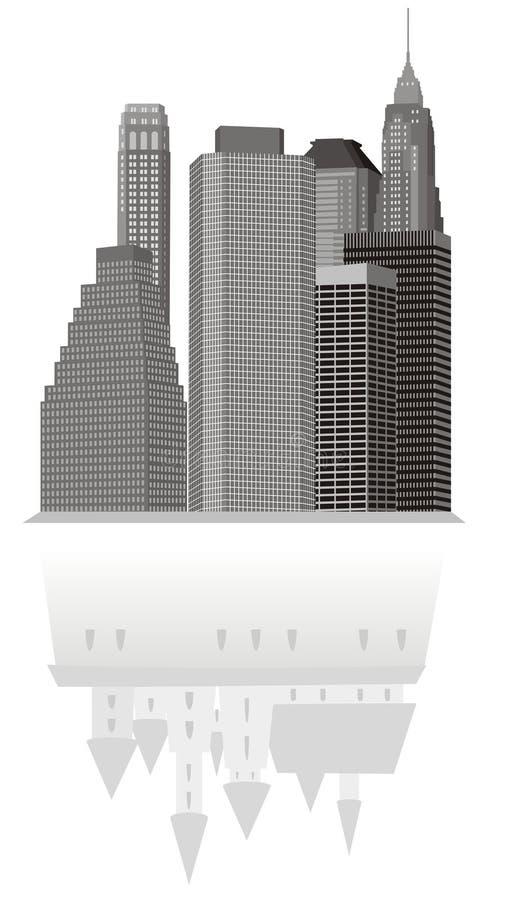 Stad op tijd royalty-vrije illustratie