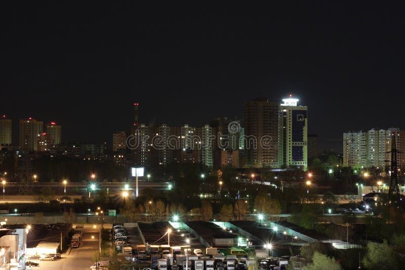 Stad På Natten Gratis Arkivbild