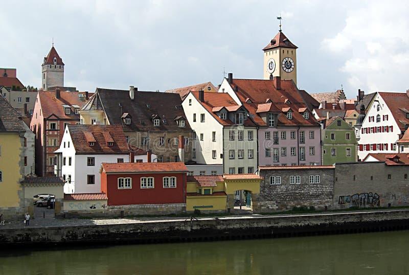 stad regensburg royaltyfria bilder