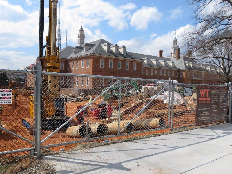 Stad Ridge Construction i Washington DC royaltyfri fotografi