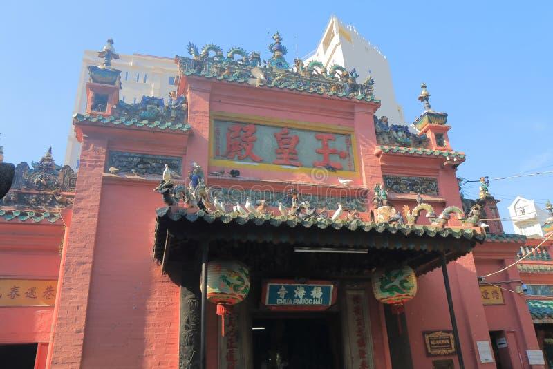 Stad Saigon Vietnam för kejsareJade Temple Ho Chi minh royaltyfria foton