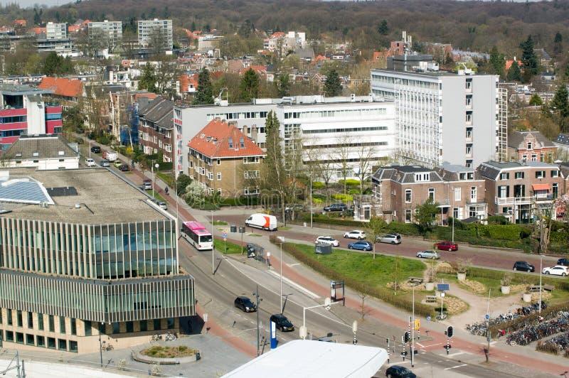 Stad sikt från över, Arnhem, Nederländerna royaltyfri fotografi