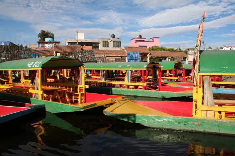 stad som flottörhus den trädgårds- mexico xochimilcoen royaltyfria foton