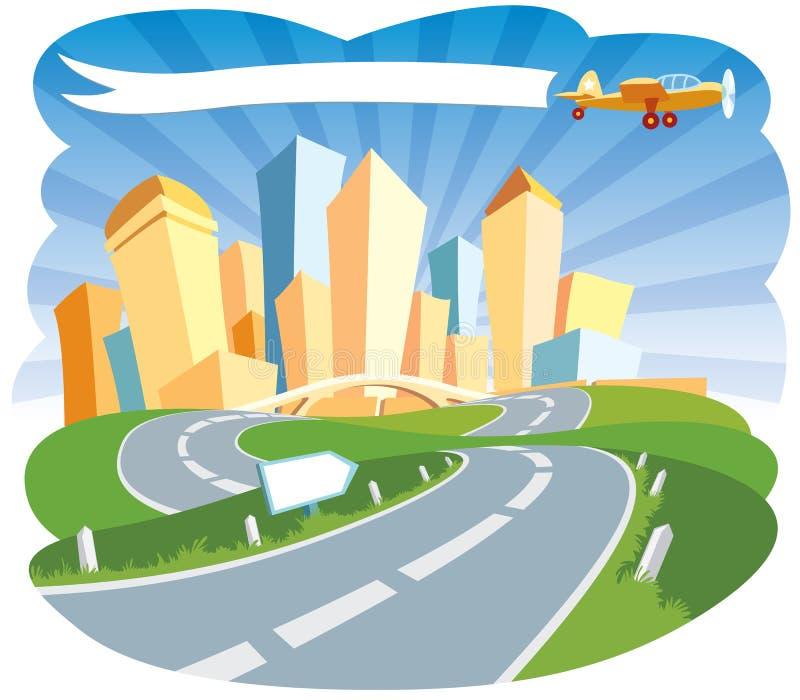 stad som ska välkomnas vektor illustrationer