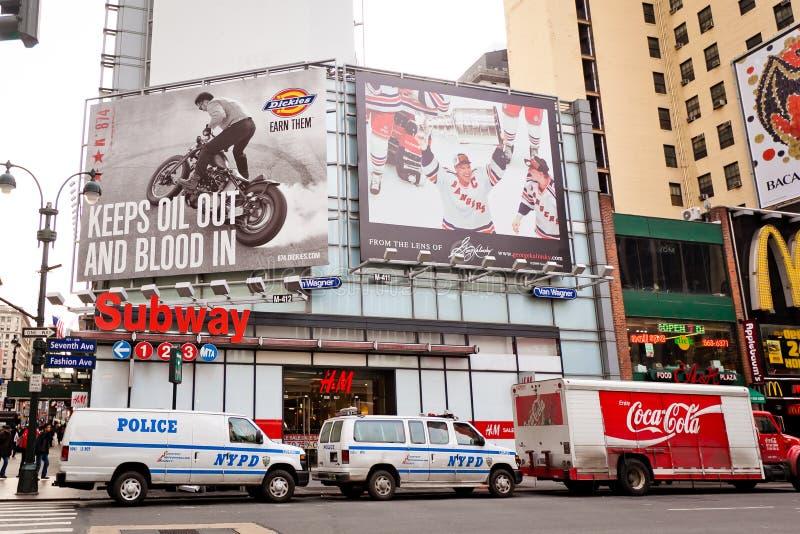 Stad streetlife op 7de Weg in New York royalty-vrije stock afbeelding
