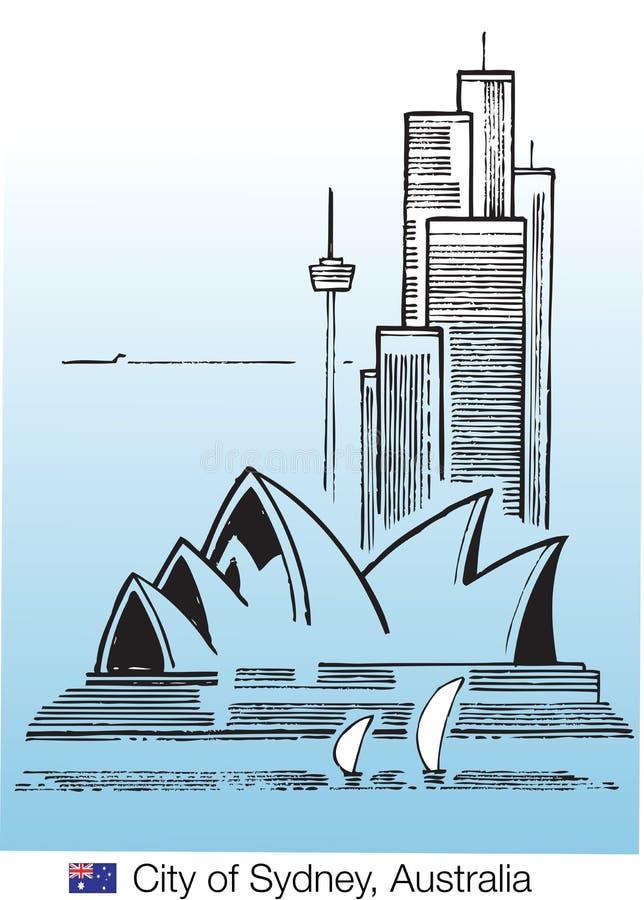 stad sydney royaltyfri illustrationer