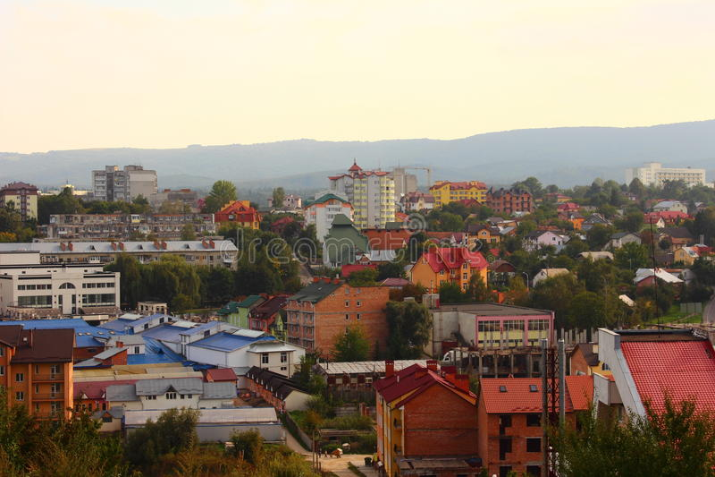 Stad Truskavets royalty-vrije stock afbeelding
