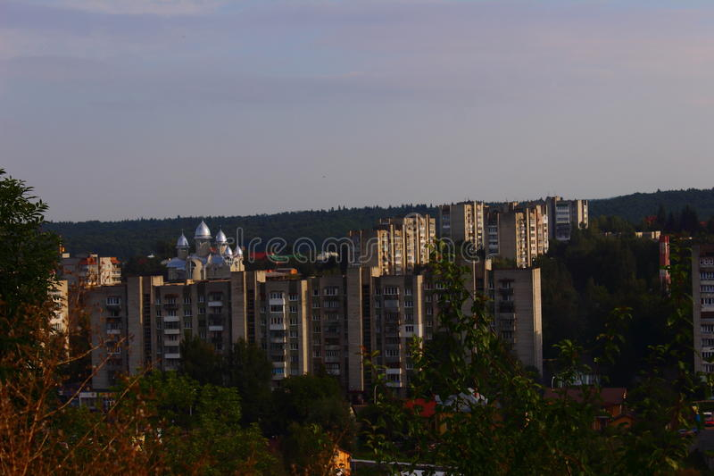 Stad Truskavets stock afbeelding