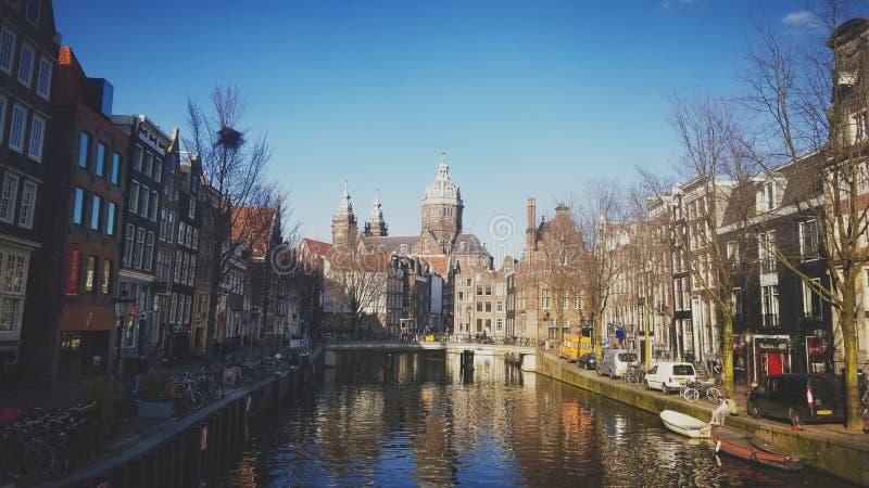 Stad van Amsterdam stock afbeeldingen