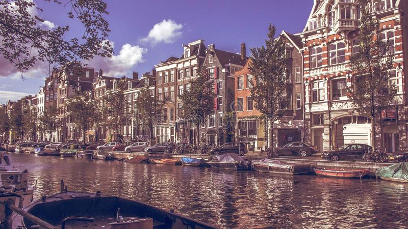 Stad van Amsterdam royalty-vrije stock foto's