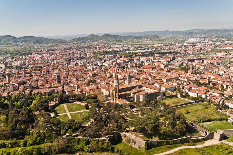 Stad van Arezzo in Toscanië - Italië royalty-vrije stock fotografie
