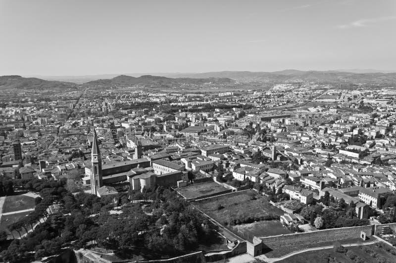 Stad van Arezzo in Toscanië - Italië stock afbeelding