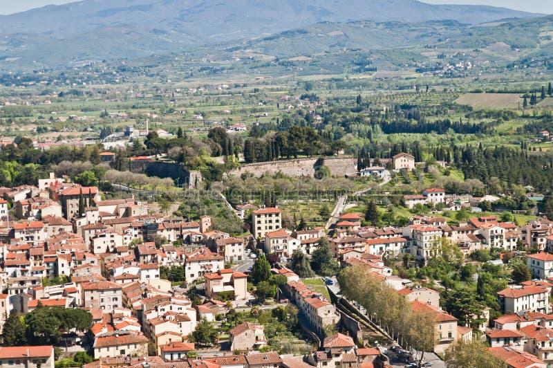 Stad van Arezzo in Toscanië - Italië royalty-vrije stock afbeelding