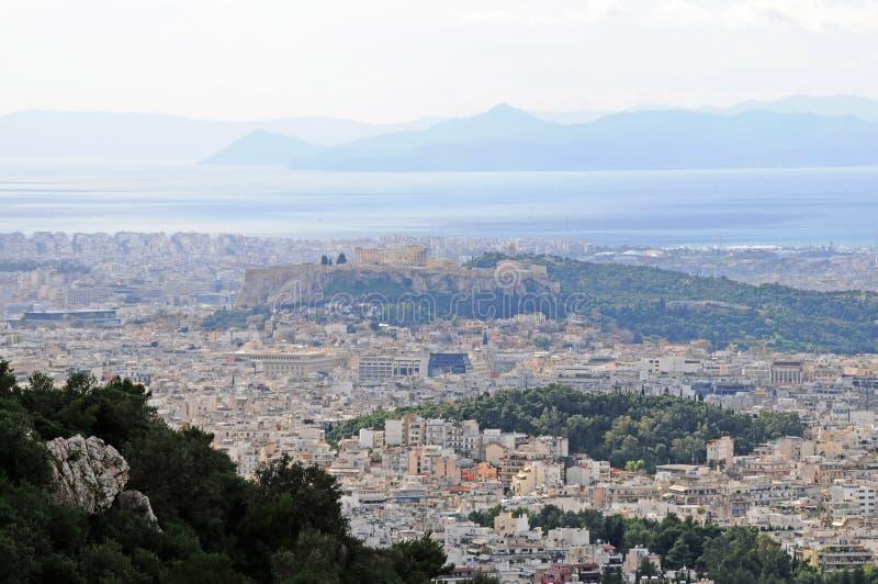 Stad van Athene, Griekenland stock afbeelding