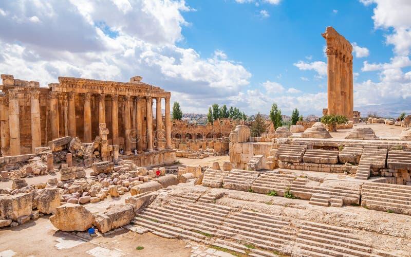 Stad van Baalbek, Libanon royalty-vrije stock foto's