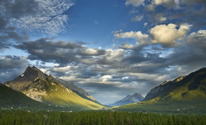 Stad van Banff, het Nationale Park van Banff stock afbeeldingen