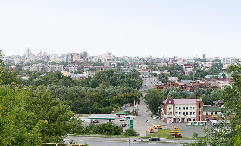 Stad van Barnaul royalty-vrije stock foto's