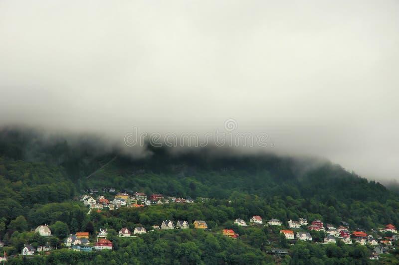 Stad van Bergen stock fotografie