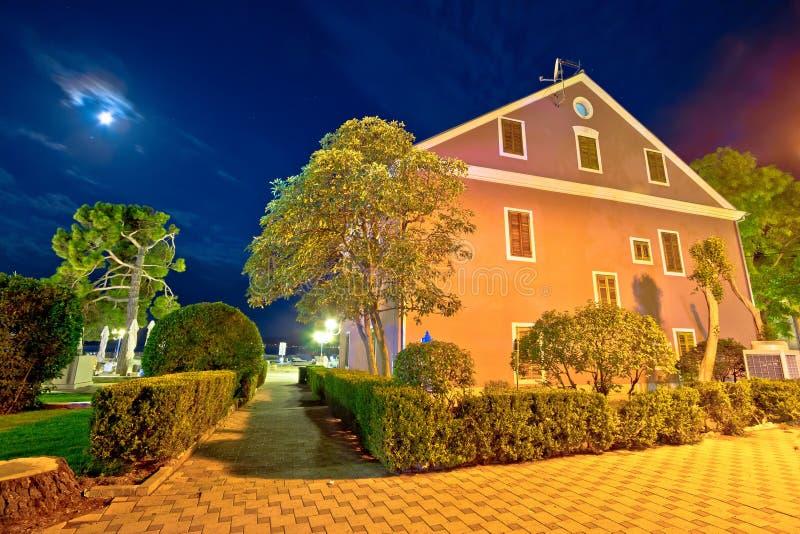 Stad van Biograd-avondmening royalty-vrije stock foto's
