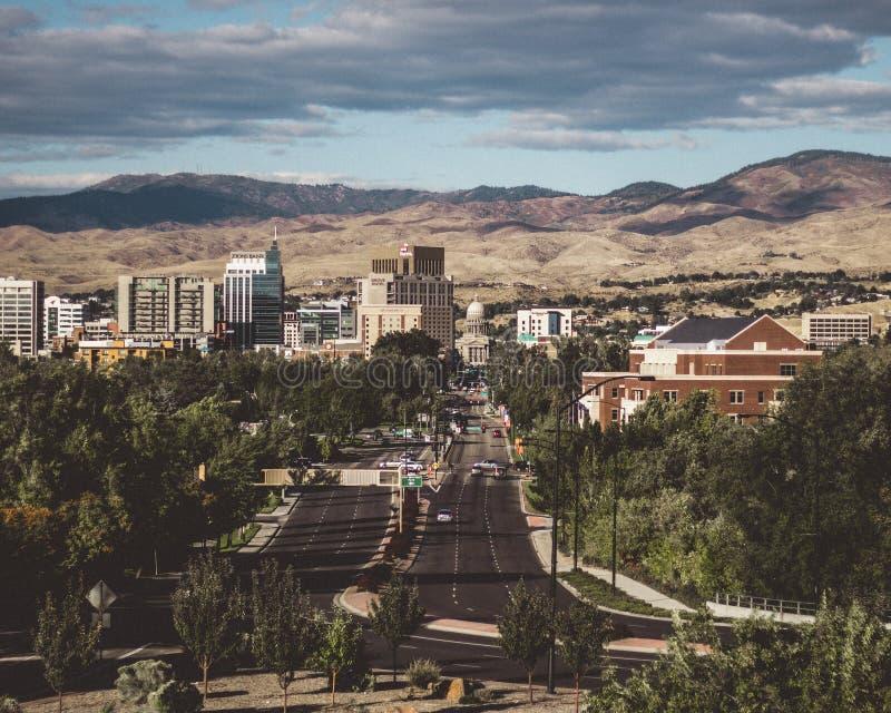 Stad van Boise stock afbeelding