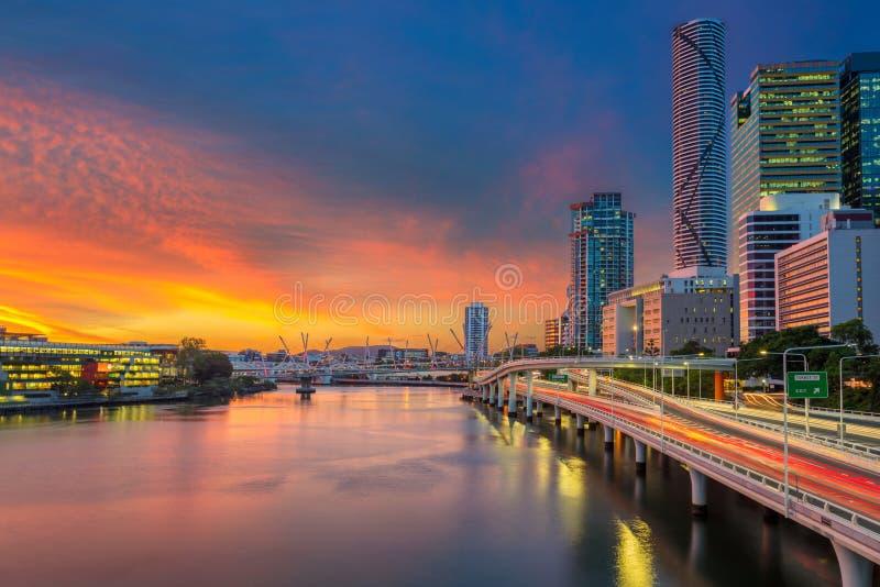 Stad van Brisbane royalty-vrije stock fotografie