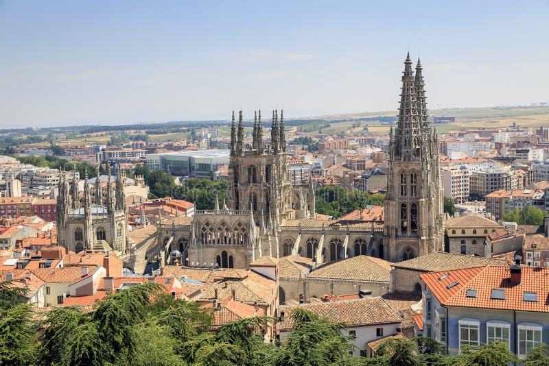 Stad van Burgos en de Kathedraal royalty-vrije stock afbeelding