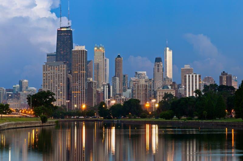 Stad van Chicago. royalty-vrije stock afbeeldingen