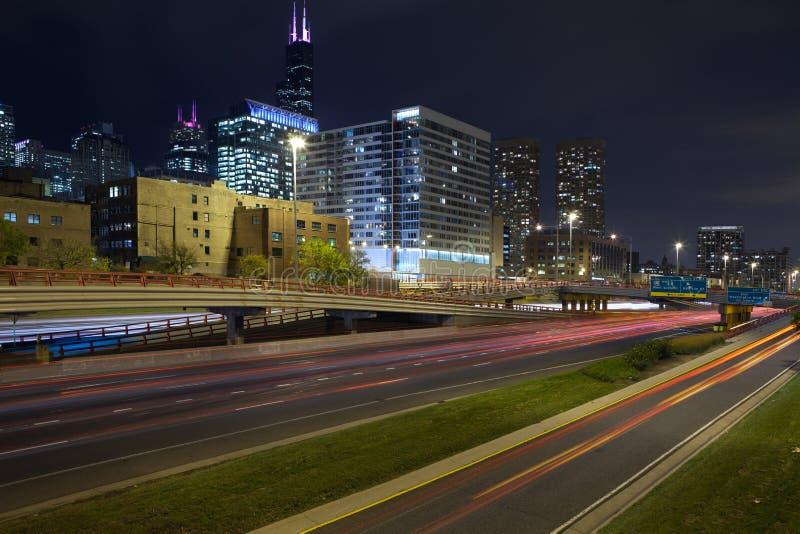 Stad van Chicago. stock afbeelding