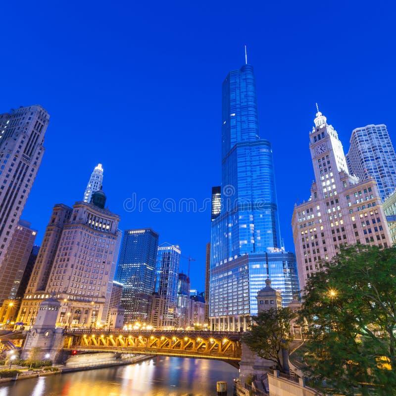 Stad van Chicago stock fotografie