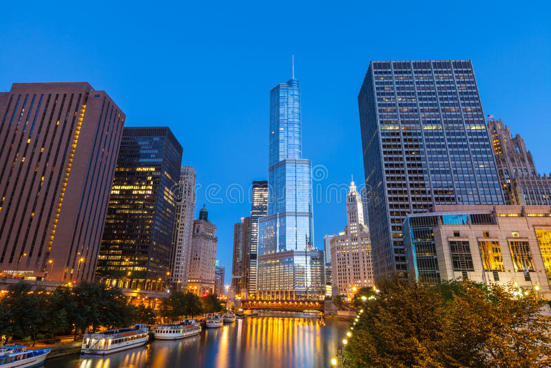 Stad van Chicago stock afbeeldingen