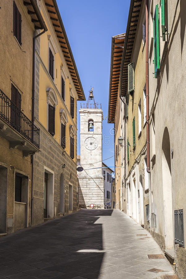 Stad van Chiusi in Toscanië, Italië stock fotografie