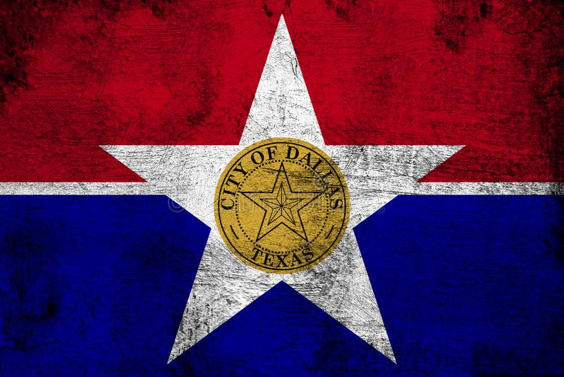 Stad van Dallas royalty-vrije illustratie